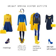 """BRIGHT SPRING WINTER OUTFITS"" by deevine on Polyvore"