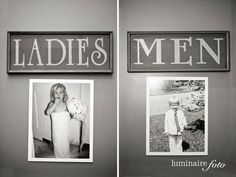 Cute photos for the washrooms