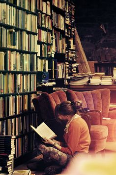 A library of books.