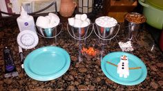 DIsney Frozen party--- Do You Want to Build a Snowman set-up/game: Marshmallows, pretzel sticks, sunkist noses & icing glue. Use edible black pens for details.