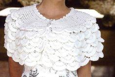 White Drape free crochet graph pattern