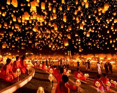 Lantern Festivity, Thailand.
