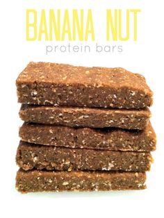No-Bake Banana Nut Protein Bars // Hummusapien.com protein bar, nobak banana, banana nut, nut protein