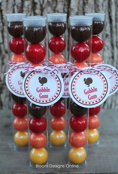 Thanksgiving Favors for Kids- Gobble Gum