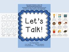 Speechy Musings: Let's Talk!-Conversation Game. Pinned by SOS Inc. Resources. Follow all our boards at pinterest.com/sostherapy for therapy resources.