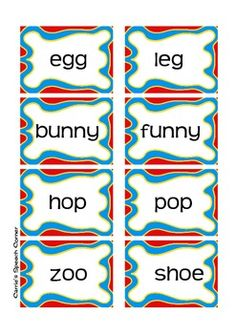 Free! Rhyme Time activity thanks to carriesspeechcorners tpt!