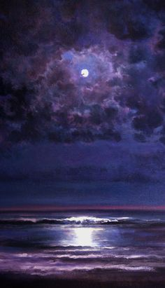 oil paintings, beach waves, night skies, color, at the beach, paint time, artist, purple painting, photo art