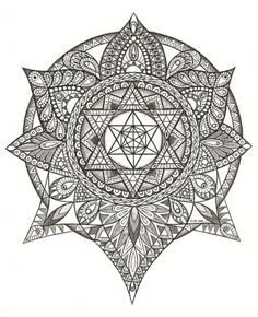 Sacred geometry by Kim Hauselberger, via Behance