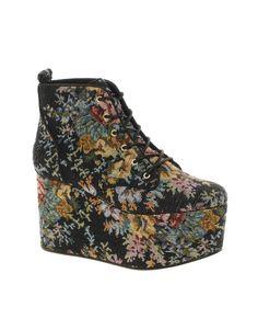 ASOS VITA tapestry platform ankle boots.
