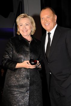 Hillary Rodham Clinton in Michael Kors with the designer. [Photo by Steve Eichner]