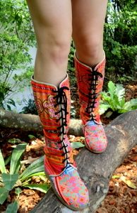 anja boot, cotton, beauti hmong, colors, buy cloth, stylefashion favorit, fair trade, shoe, boots