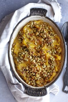 Super YUMMY! Acorn Squash with Crispy Maple Pumpkin Seeds Recipe ♥ PERFECT for Thanksgiving! ♥ Delicious, Healthy, Easy and Vegan! And it's pretty!  #MyVeganJournal