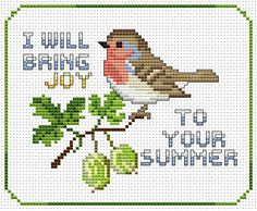 Summer Joy free cross stitch pattern