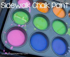 Sidewalk Chalk Paint - an easy, fun activity!