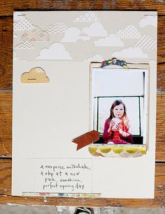 Simple & Lovely #scrapbook #layout #clouds #journal