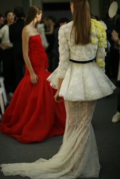 Giambattista Valli haute couture f/w 2013 backstage