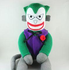 Joker the Sock Monkey  Made to order by YouMakeMeMe on Etsy, $38.00