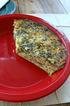 Sausage, Mushroom and Spinach Crustless Quiche