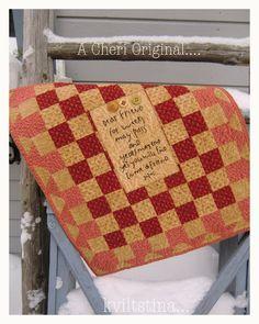 quilt wall, cheri, dear friend, wallhang, small quilt, miniquilt, mini quilt