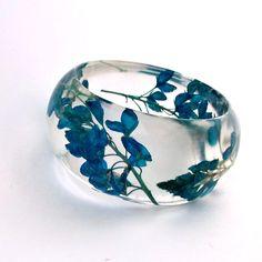 Pressed flower resin bracelet $44.00, via Etsy.