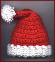 Free pattern crochet santa hat