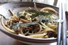 Pasta with Mushrooms––you can never go wrong with mushrooms!