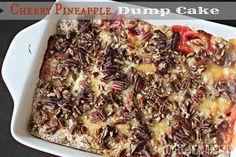 Cherry Pineapple Dump Cake #cherryjubliee by Joyful Healthy Eats Pineapples, Dump Cakes, Pineappl Dump, Desert, Sweet, Cherri Pineappl, Dessert Recip, Food, Cherries