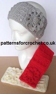 Free crochet pattern for ear warmer headband http://www.patternsforcrochet.co.uk/headband-usa.html #crochet