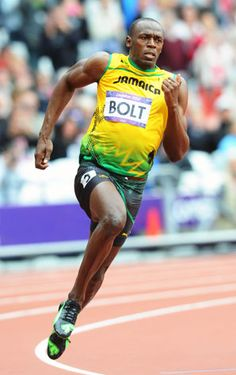 Usain Bolt (Jamaica) in 200m. in London 2012.