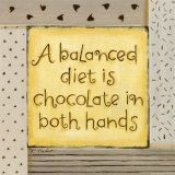 hand, food groups, word of wisdom, life motto, chocolates, chocolate quotes, weight loss, diets, true stories