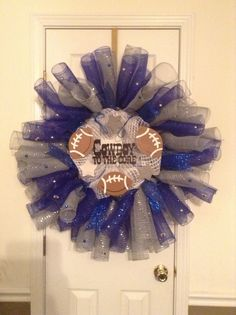 Dallas Cowboy Wreath! mesh wreath, cowboy wreath, dallas cowboys, wreath idea, dalla cowboy