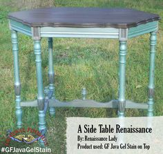 Renaissance Lady, https://www.facebook.com/Renaissance2Lady?fref=ts,  utilized General Finishes Java Gel Stain to give this table top a rich dark color. We'd love to see your projects made with General Finishes products! Tag us with #GeneralFinishes or share with us through our facebook page.  #javagelstain #diy