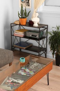 Gallery Coffee Table // totes going to DIY something like this! maybe even use recycled drawer or crate for case. excited!!