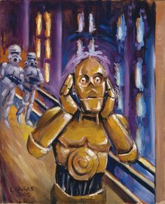 "Ok, this seriously made me bust up laughing.  It is a Star Wars take off on ""The Scream"" by Edvard Munch.  LOL."