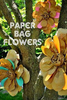 Shannanigans Paper Bag Flower Tutorial