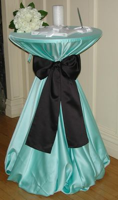 Tiffany blue wedding   com - Tiffany Blue Lamour Chair Pad Cover Presented by Davids Bridal ... white bow though