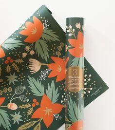 Holiday Greens Wrapping Sheets