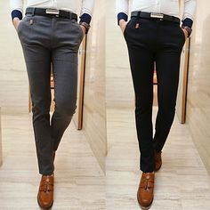 Fashion Men Skinny Fit Dress Pants | Sneak Outfitters