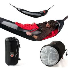 Hammock Compatible Sleeping Bag! I mean, a sleeping bag that fits on a hammock... So you can swing and stay warm! #Camping #Outdoors #Hammock hammock compat, camping hammocks, compat sleep, sleep bag, sleeping bags, hammock camping, camping sleeping bag, camping outdoors, zombie apocalypse