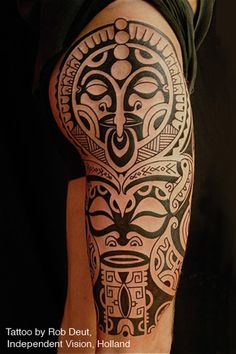 Polynesian black tattoo.