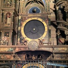 In Strausborg Cathedral, clock from 1574.