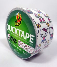 Hello Kitty Duct Tape. Crafting fun on Christmas day!