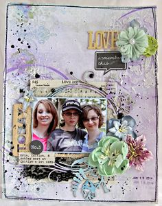 8 1/2 x 11 layout by Patter Cross using Blue Fern Studios papers and chipboard.