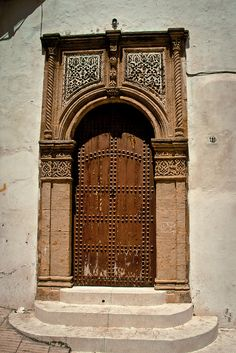 Africa | Door in the Sale Medina. Morocco.  © Christopher Rose
