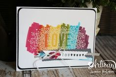 Rainbow Love Seasonally Scattered 2 Jeanna Bohanon Convention 2014 #stampinup