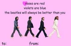 beatles valentines day ecards