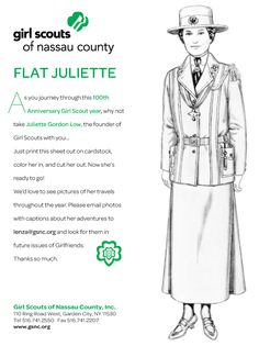 As you journey through this 100th  Anniversary Girl Scout year, why not take Juliette Gordon Low, the founder of Girl Scouts with you...