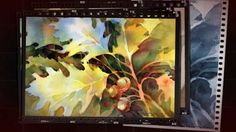 Negative Painting: Leaves by Brenda Swenson