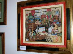 El rincón de Rida: Exposición de labores en Burgos - el punto de cruz