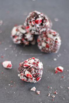 It Bakes Me Happy: Dark Chocolate Peppermint Truffles
